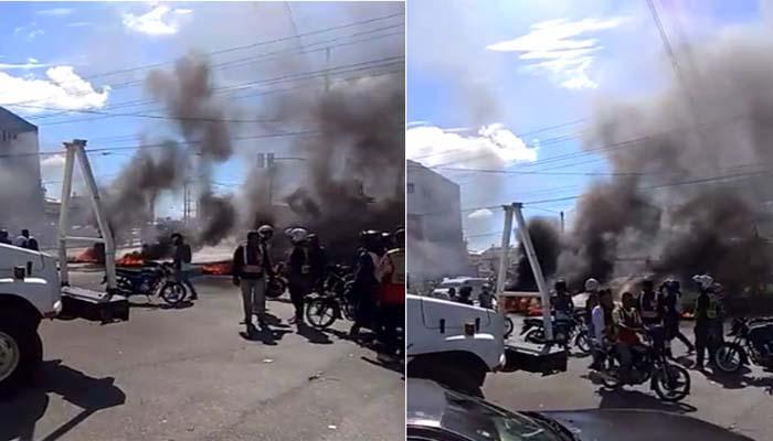 Resultado de imagen para PARADA DE PINTURA Tiroteo y neumáticos incendiados en la 27 de Febrero con Isabel Aguiar